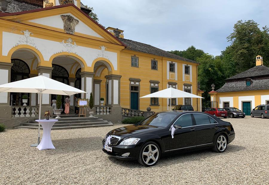 Mercedes Hochzeitslimousine